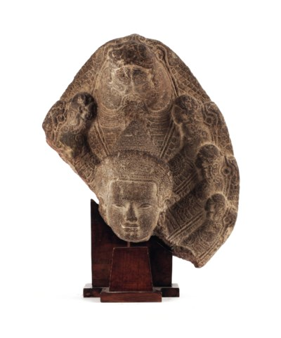 A Khmer, Bayon style sandstone