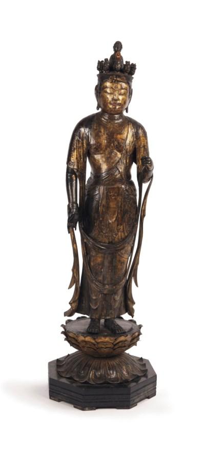 A Japanese gilt-wood figure of