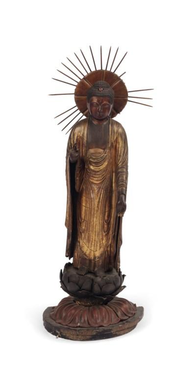 A Japanese gilt-lacquer figure