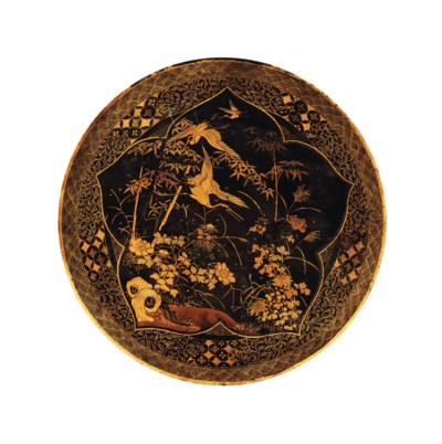 A Japanese bronze plate