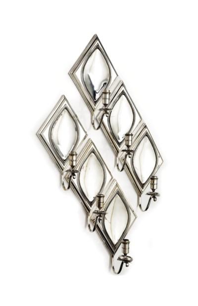 A set of six Dutch silver wall