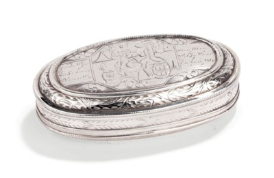 A Dutch silver tobacco-box and