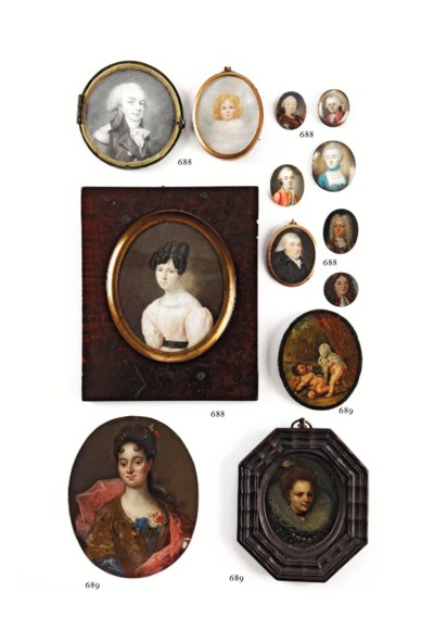 Two Dutch miniatures portraits