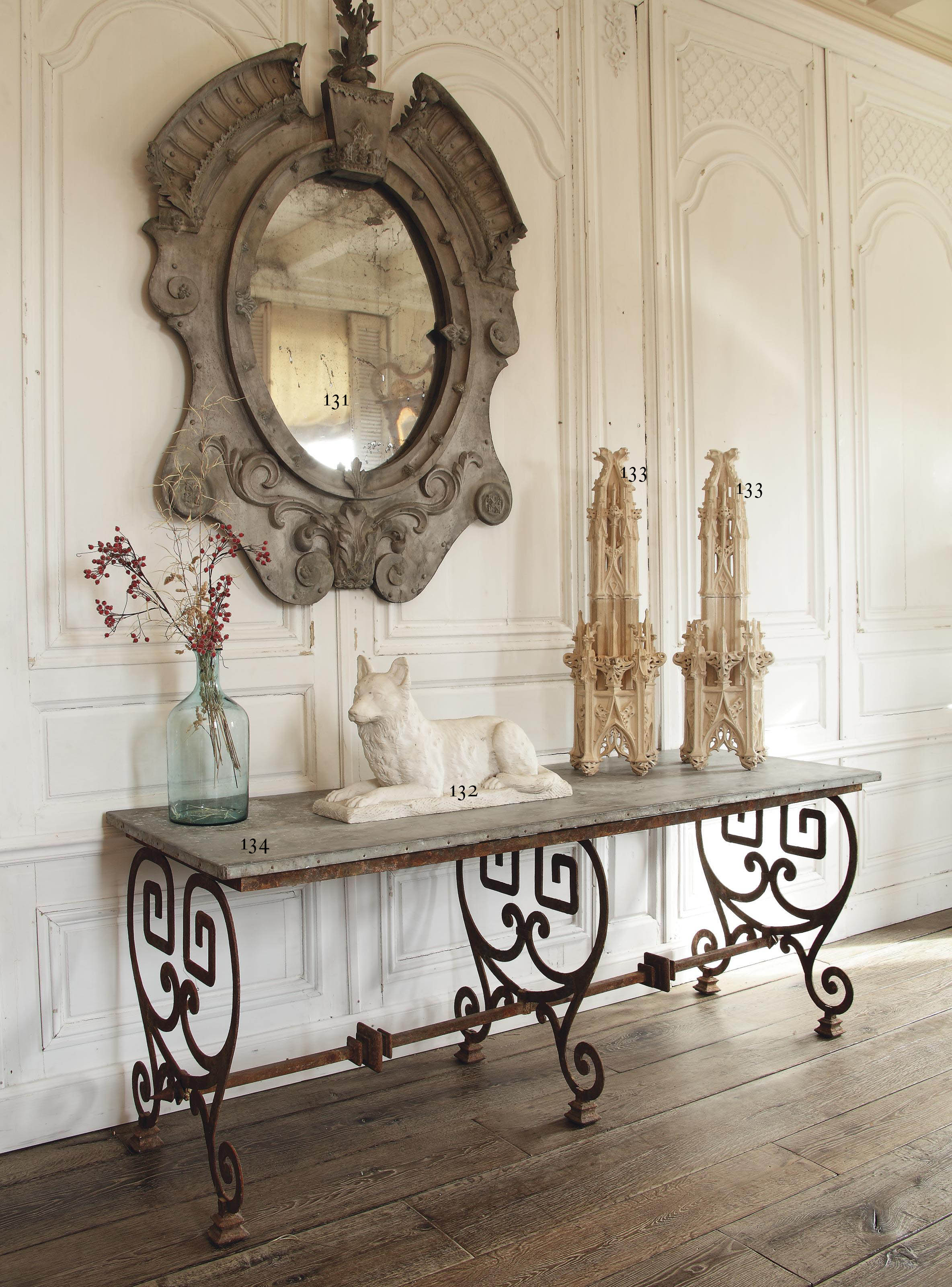 A French wrought-iron table