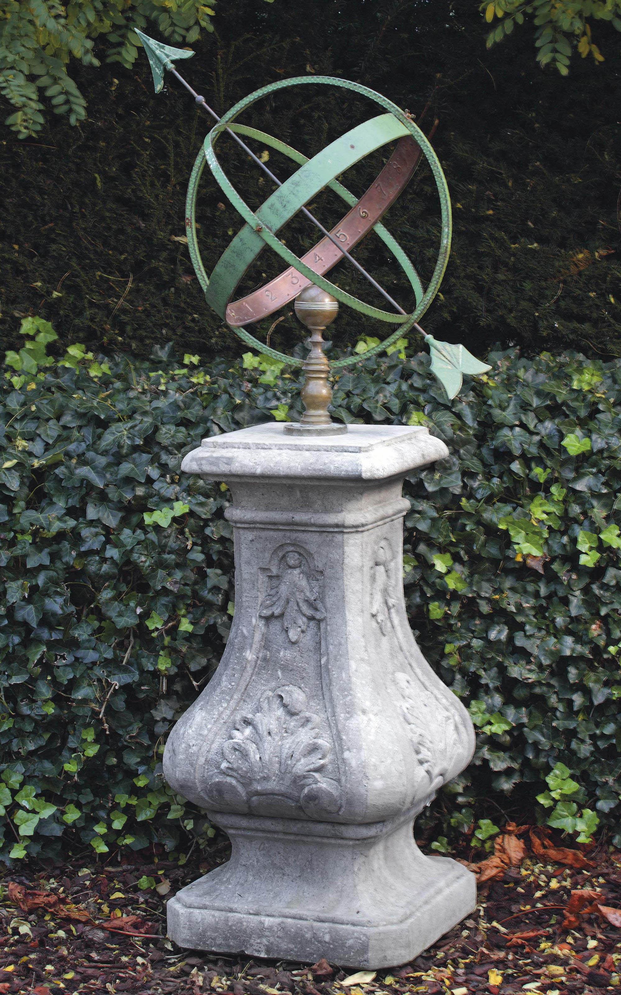 photo x of ornament pedestal attractive with garden sundial bronze