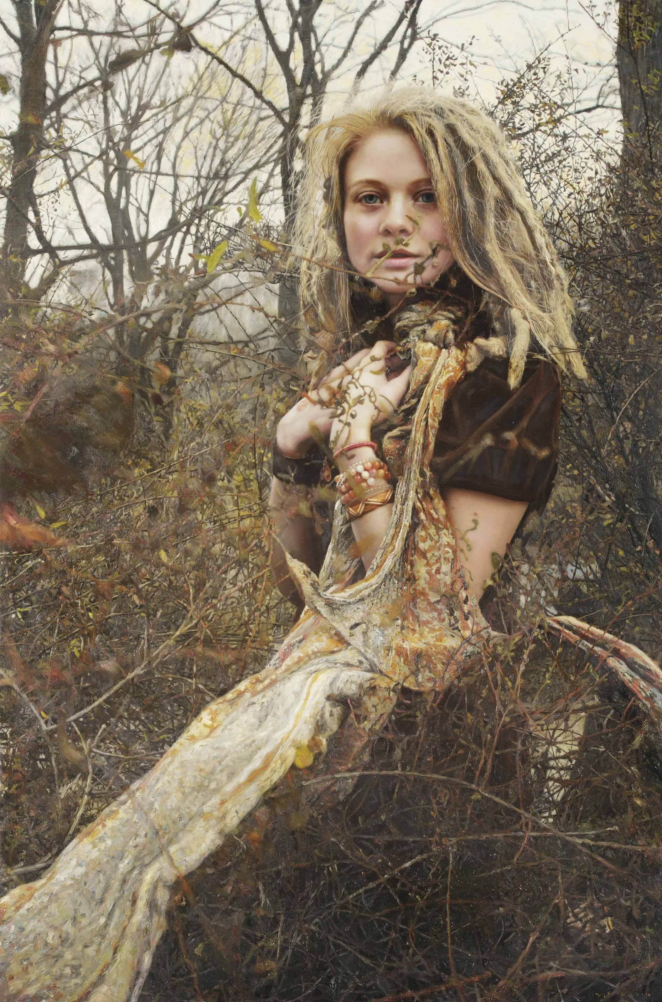 Untitled; Priscilla with vines