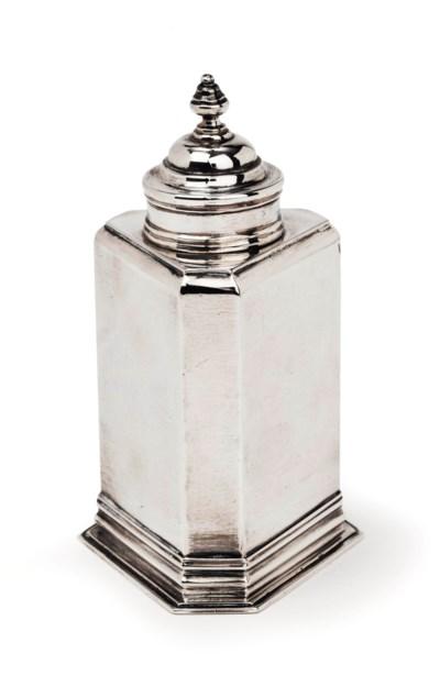 A rare Dutch silver triangular