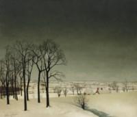 View of Tiegem in winter