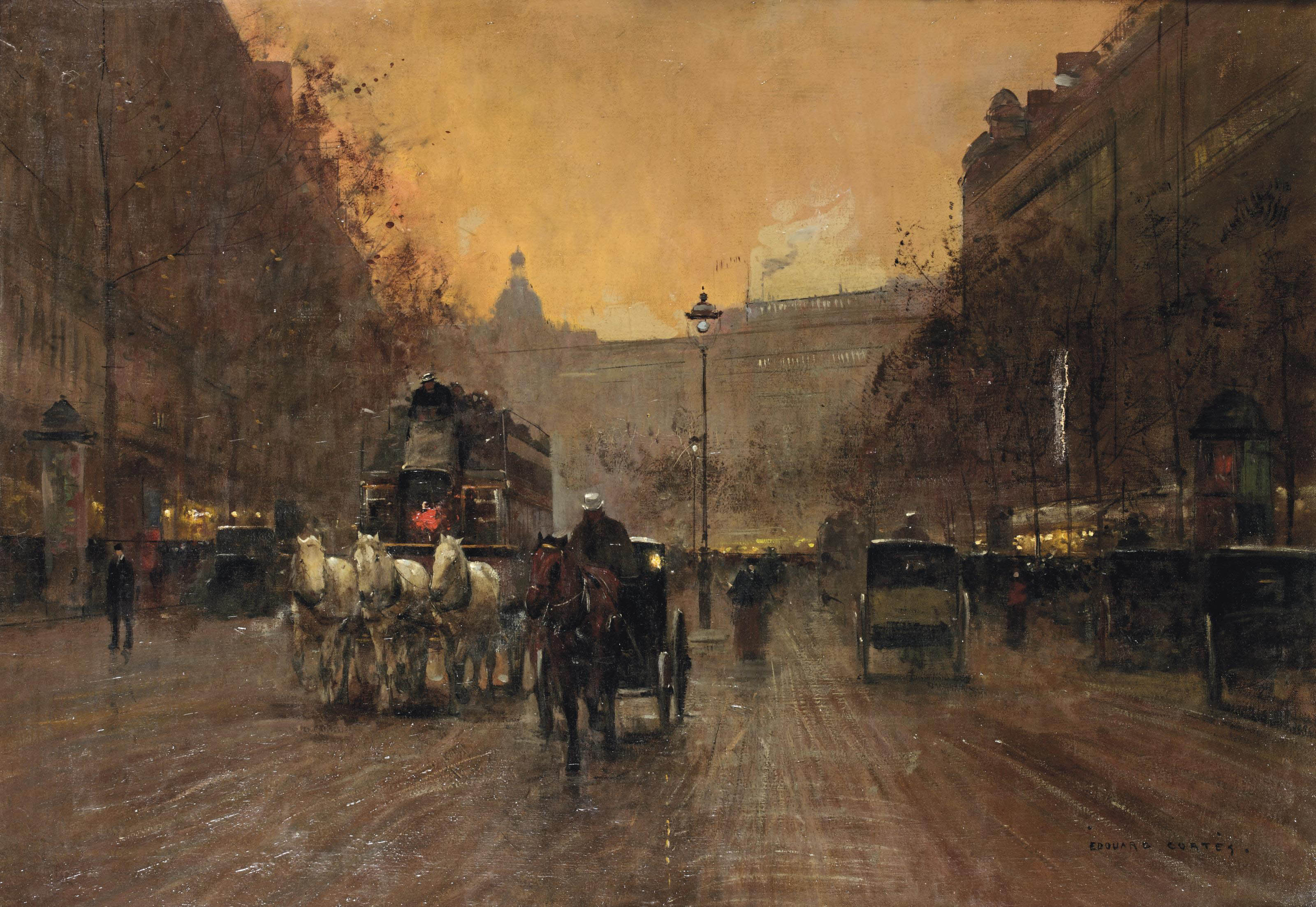 Boulevard in Montmartre, Paris