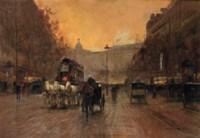 Boulevard in Montmartre, Paris