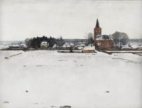 A view of Ede in winter