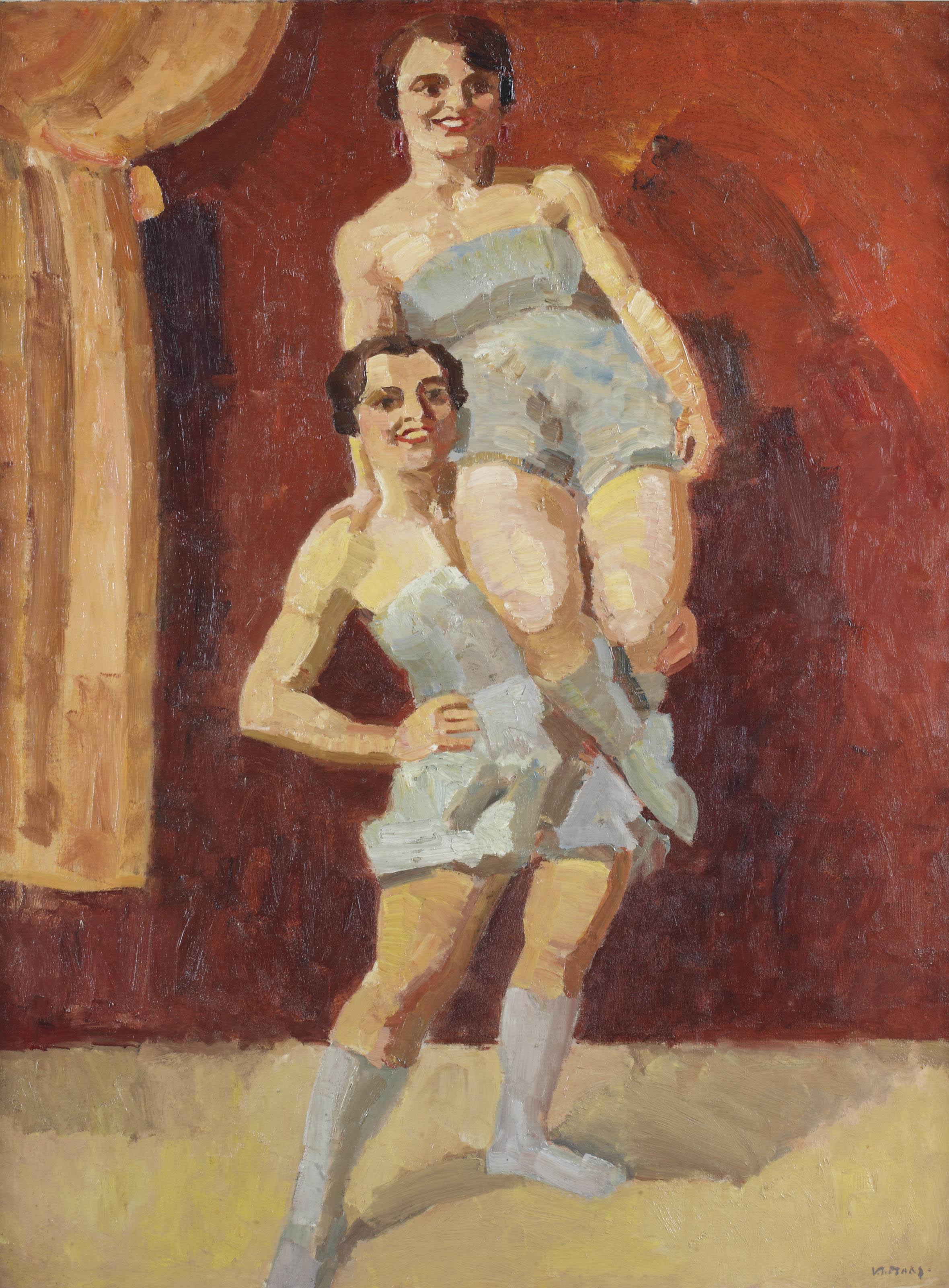 Vrouwelijke acrobaten