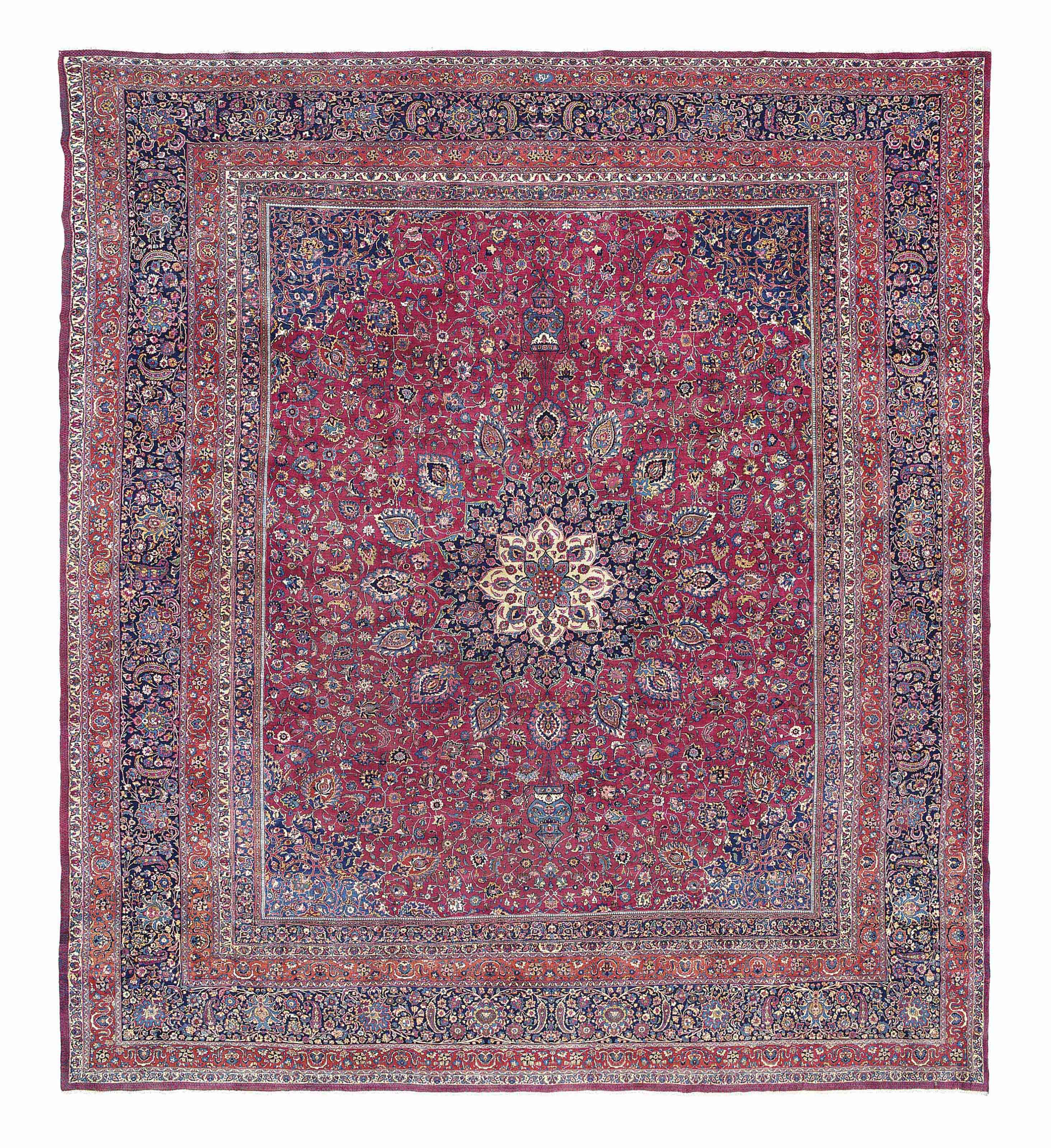 A MESHED CARPET , SIGNED AMOGHLI, NORTH EAST PERSIA, CIRCA