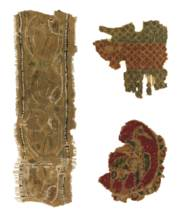 A GROUP OF SIX FLATWOVEN TEXTI