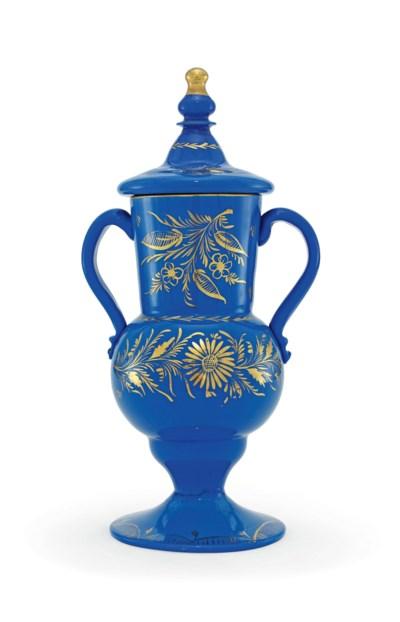 A BEYKOZ BLUE GLASS COVERED VA