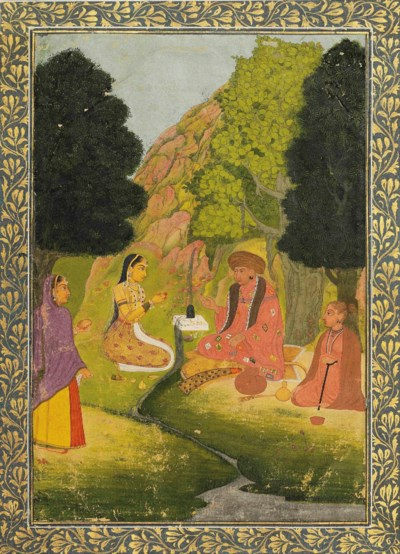 TWO LADIES VISITING AN ASCETIC