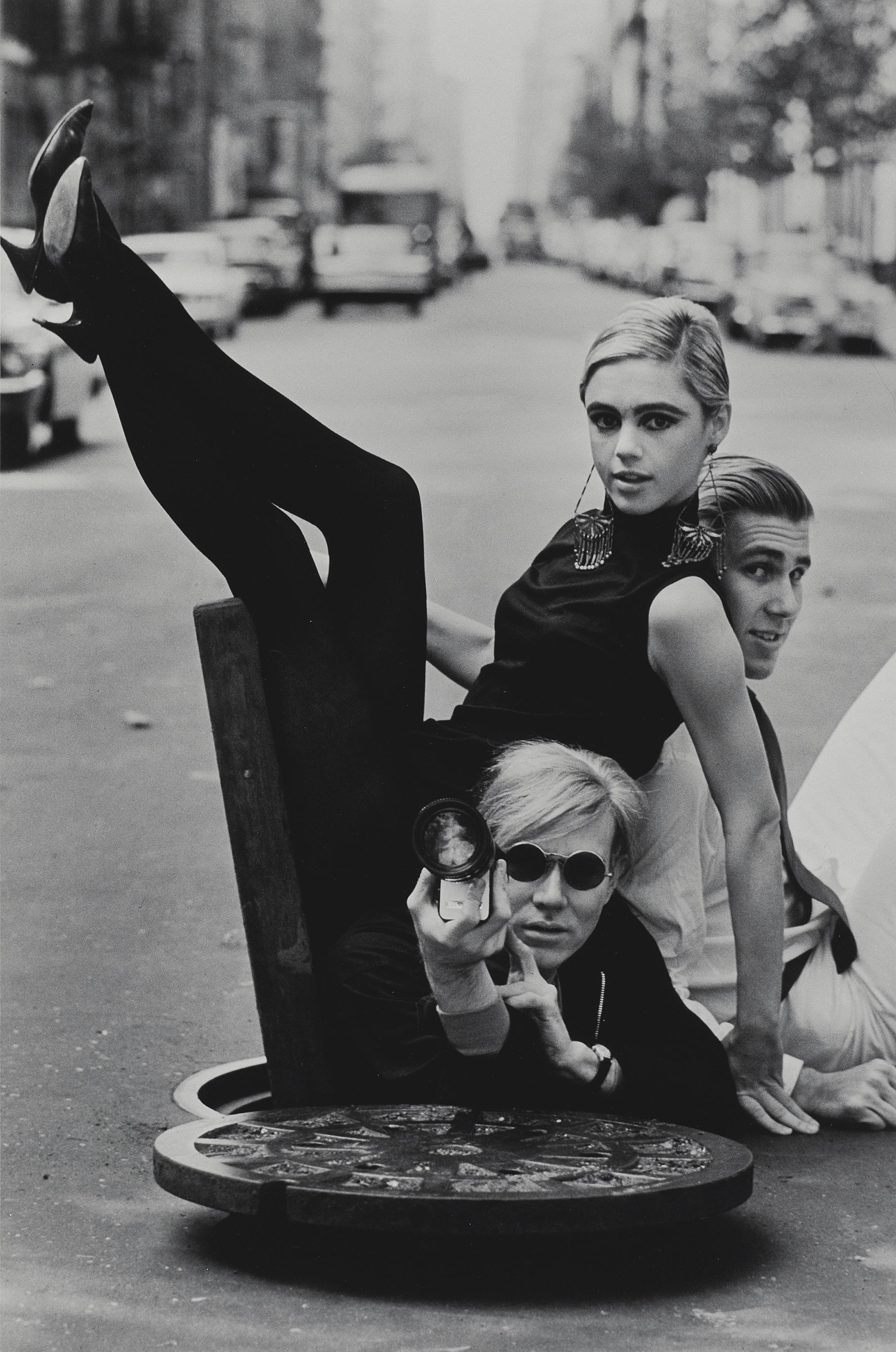 Andy Warhol, Edie Sedgwick and Chuck Wein, 1965
