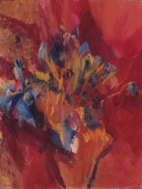 Cornflowers and Delphiniums