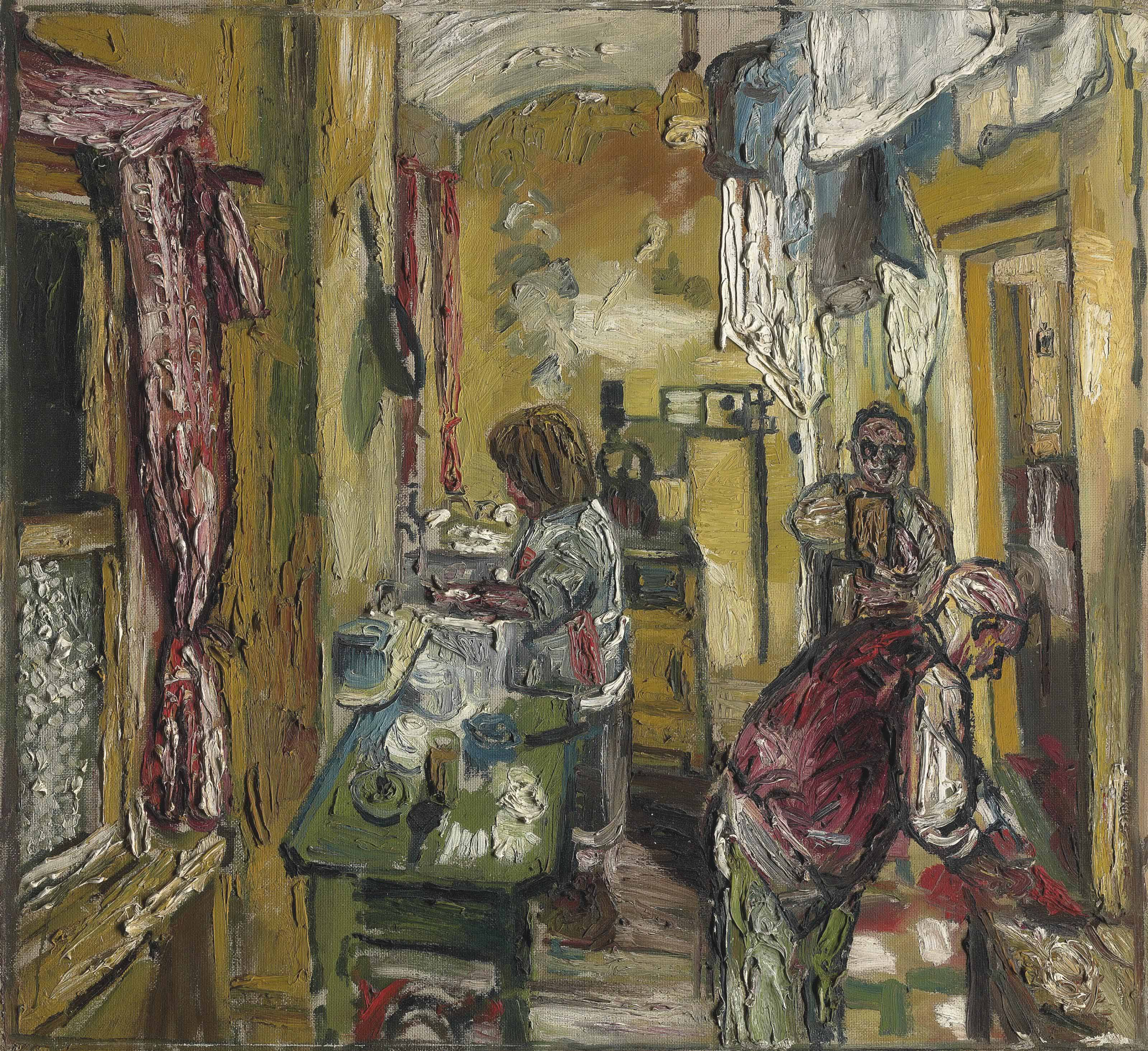 John Bratby - Kitchen Interior, Carlyle