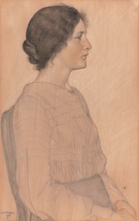 Portrait of a young girl, three-quarter-length, seated