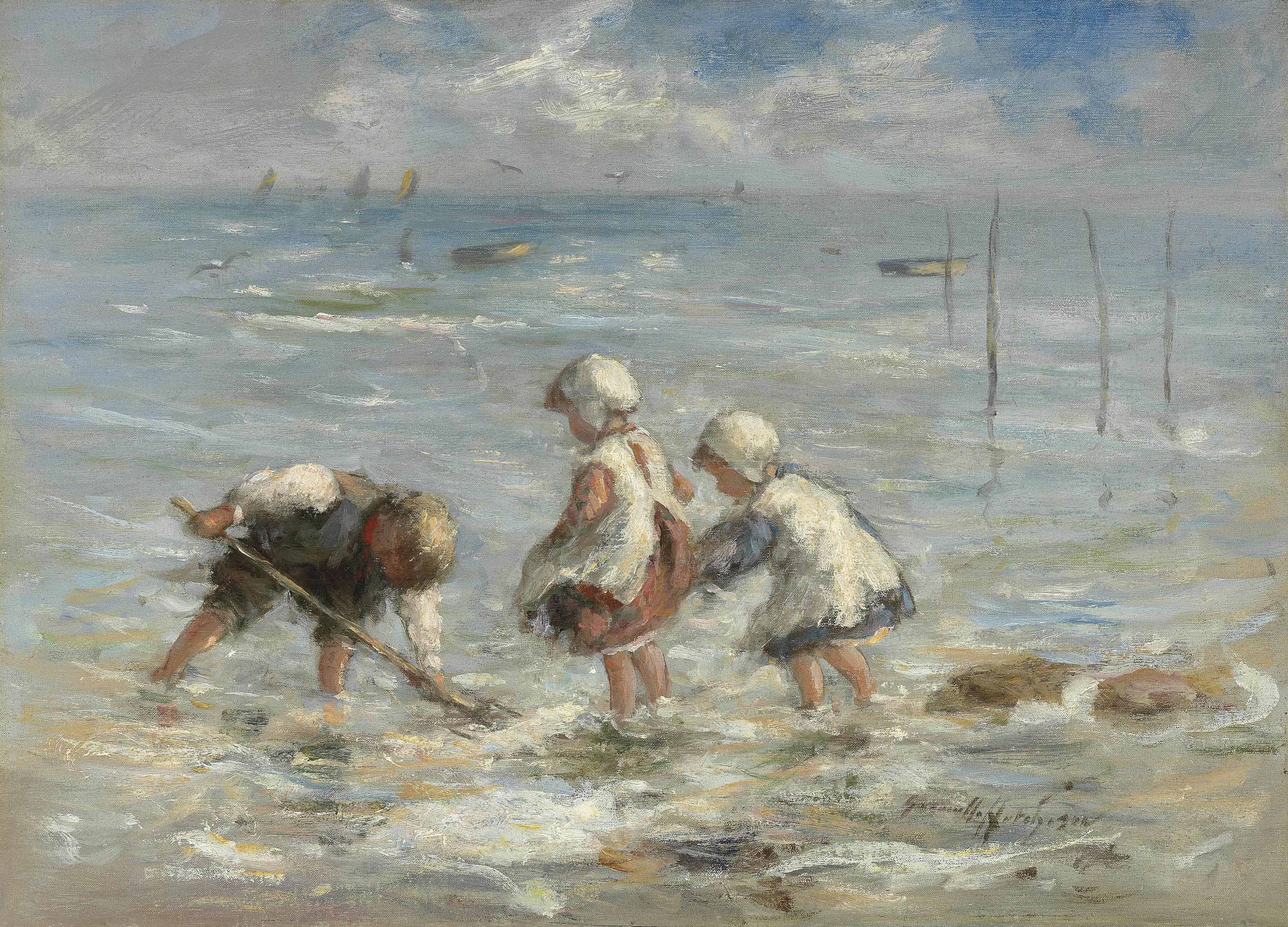 Children at the water's edge