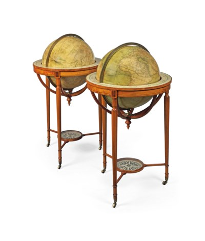 A PAIR OF GEORGE III TERRESTRI
