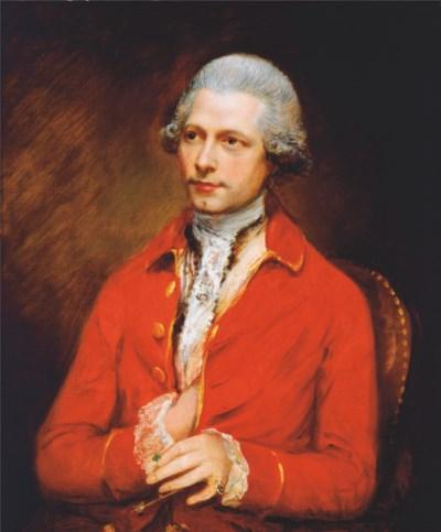 A GEORGE III MAHOGANY AND TULI