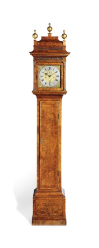 A WILLIAM III WALNUT STRIKING MONTH-GOING LONGCASE CLOCK