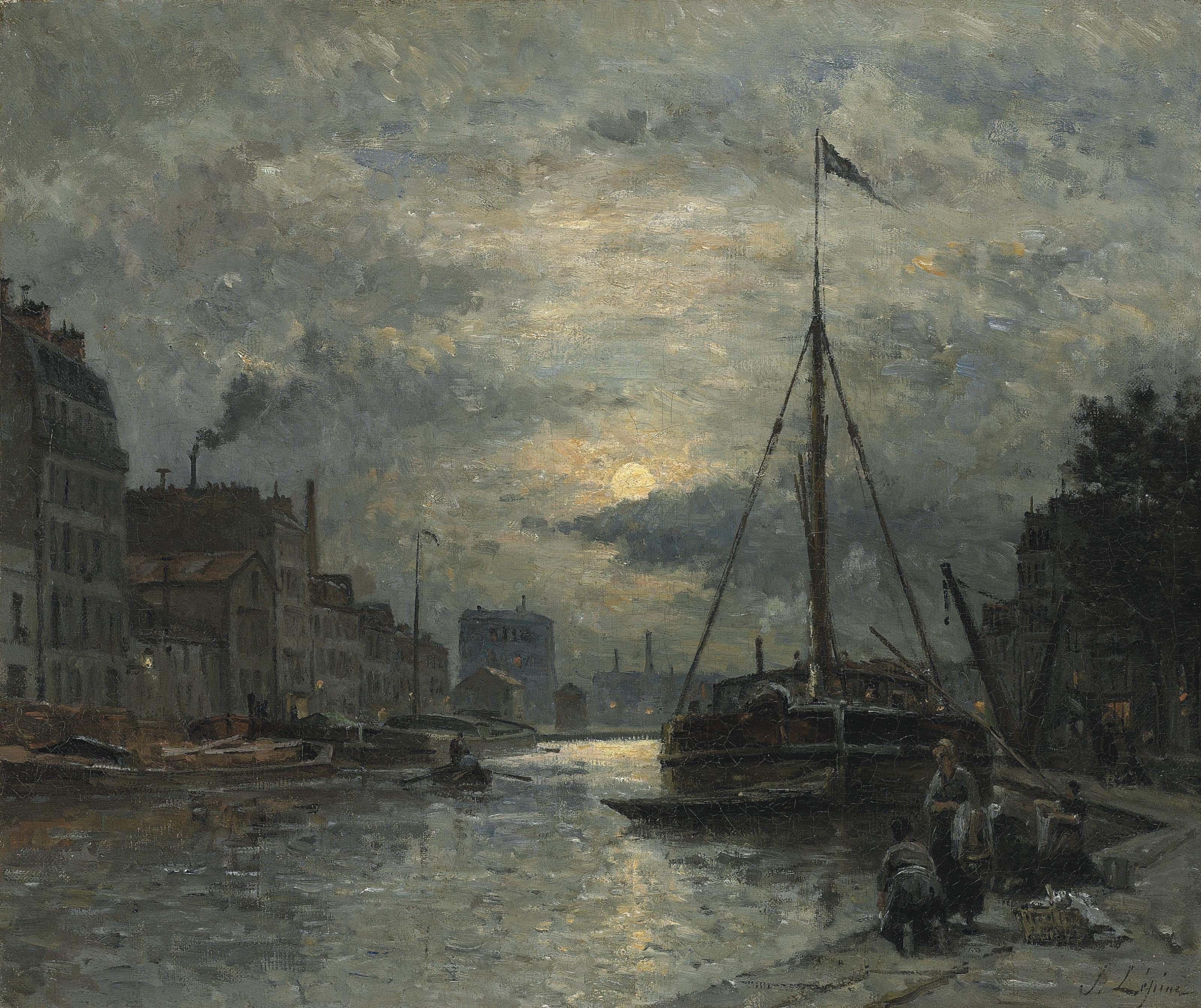 Le Canal Saint-Martin au Clair de Lune