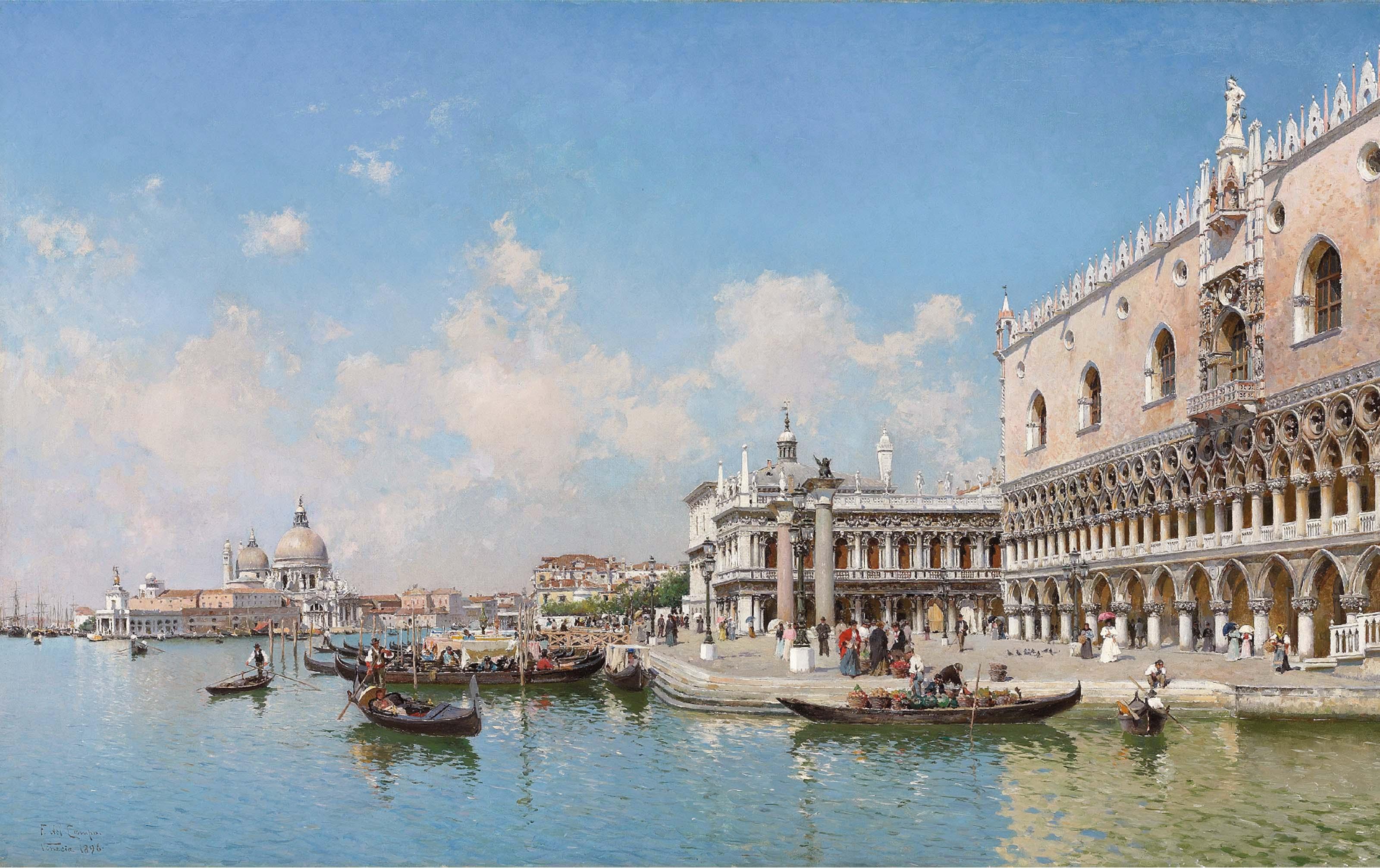 The Doge's Palace and Santa Maria della Salute