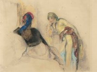 Two women in an interior, Bursa