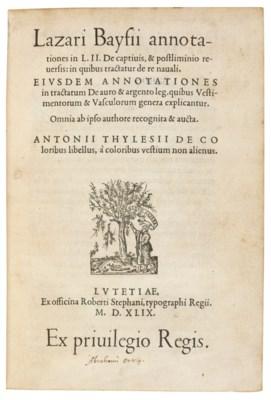 ORTELIUS -- BAIF, Lazare de (d
