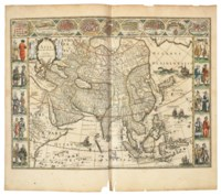 BLAEU, Willem (1571-1638) and Johannes BLAEU (1596-1673). Le Theatre du Monde ou Nouvel Atlas ... seconde partie. [Volume II. France, Spain, Asia and the Americas]. Amsterdam: Johannes Blaeu, 1645.