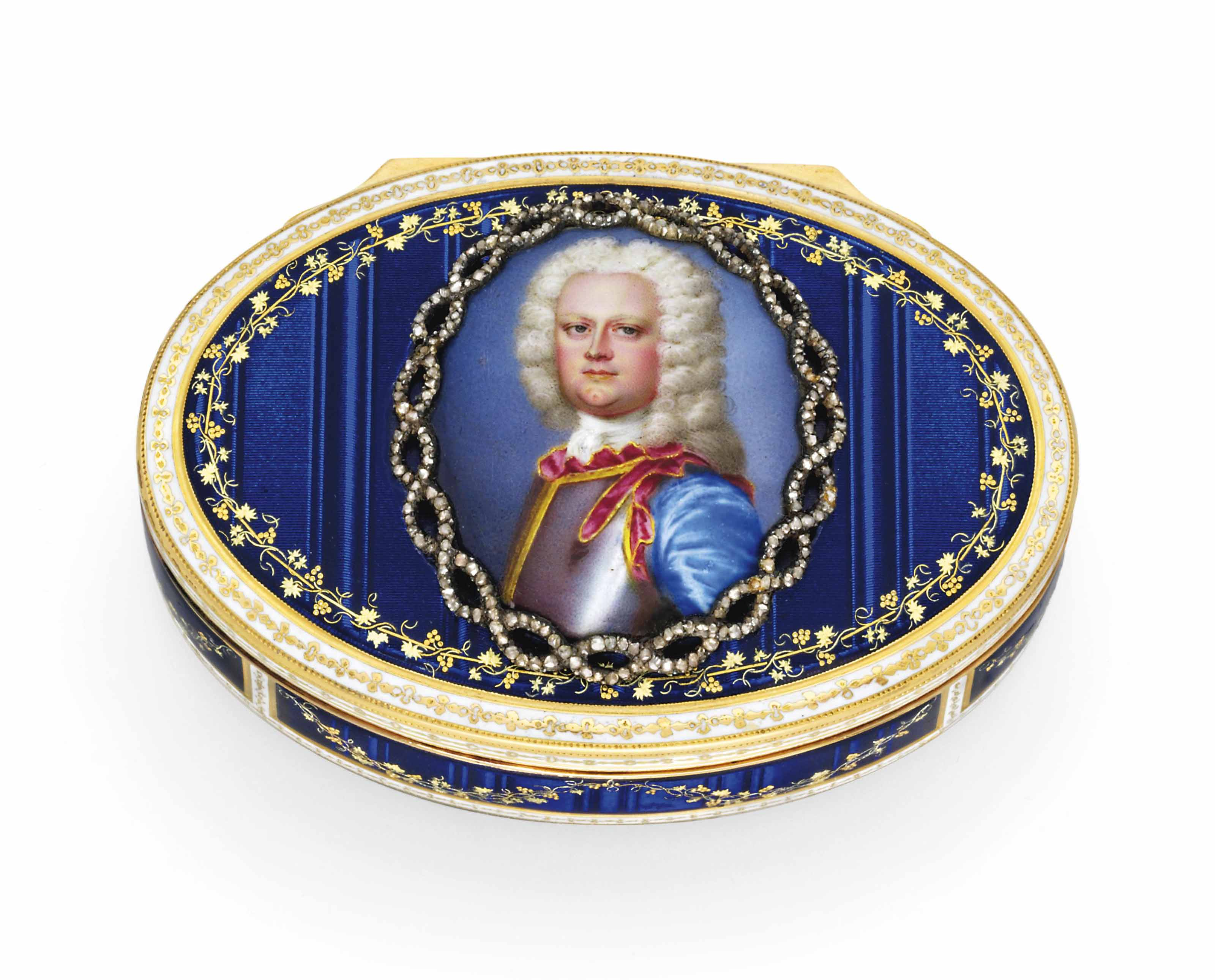 a german jewelled enamelled gold snuff box set with a portrait miniature by les freres. Black Bedroom Furniture Sets. Home Design Ideas