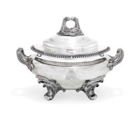 A WILLIAM IV SILVER SOUP-TUREEN AND COVER