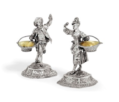A PAIR OF VICTORIAN SILVER FIG