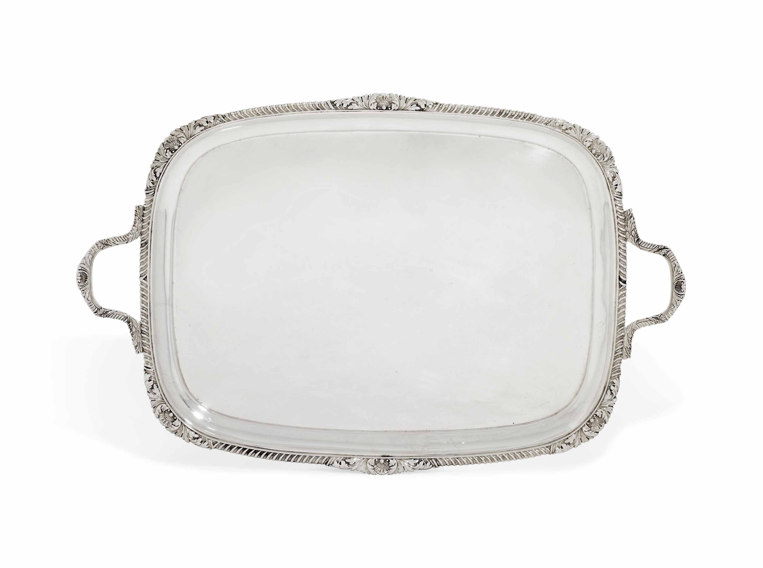 A VICTORIAN SILVER TRAY
