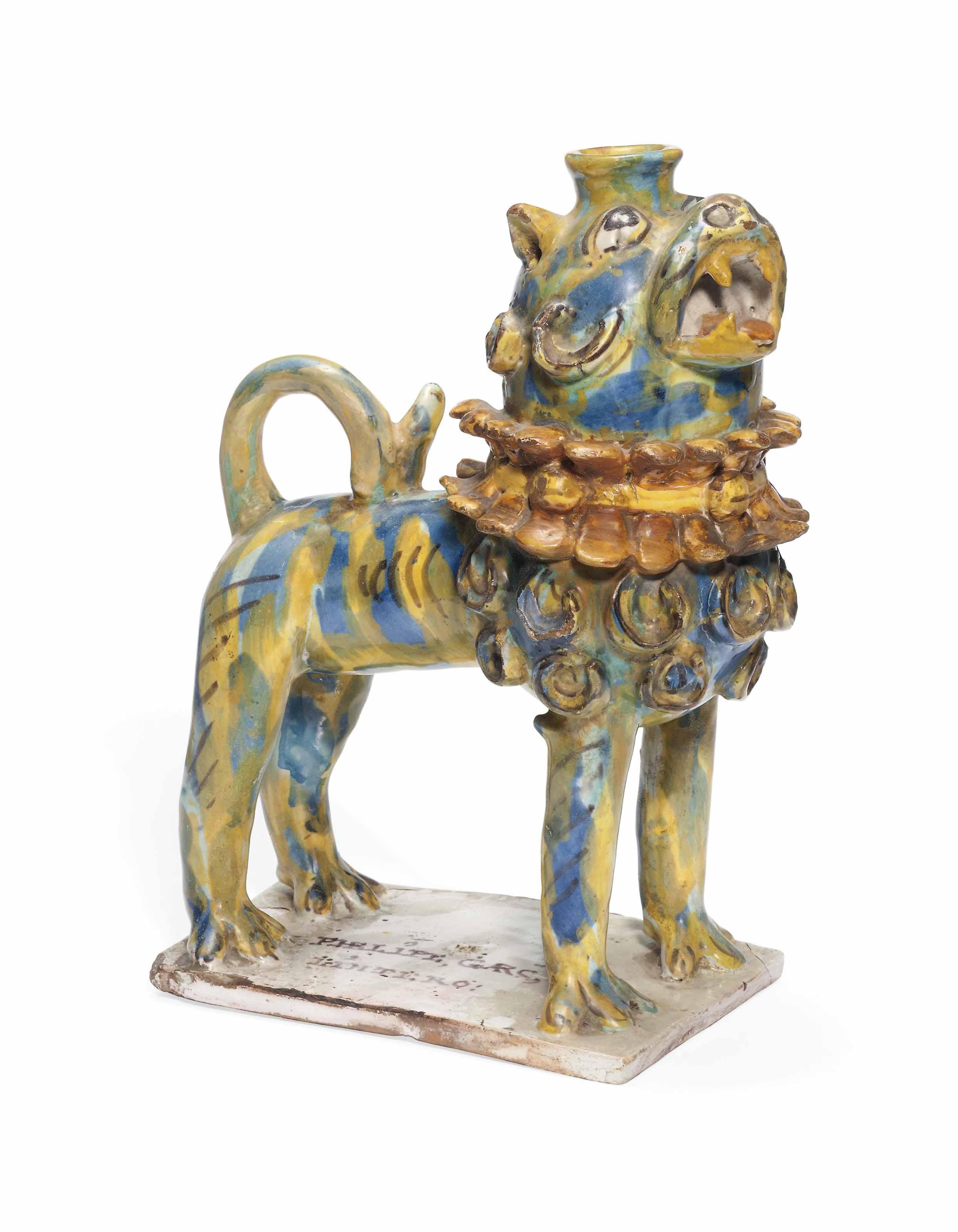 A TALAVERA MODEL OF A LION
