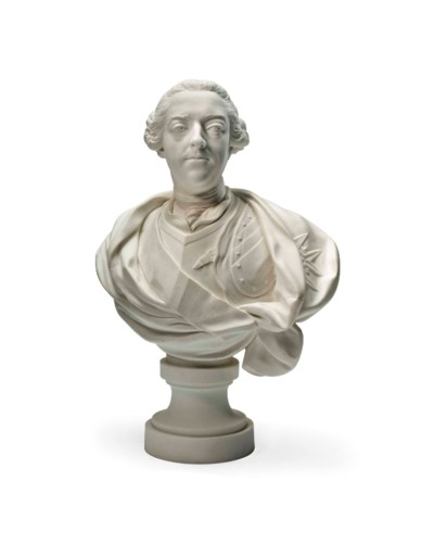 A SEVRES WHITE BISCUIT BUST OF