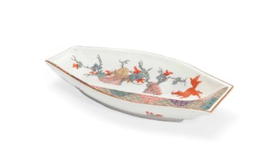 A MEISSEN KAKIEMON PUNT-SHAPED