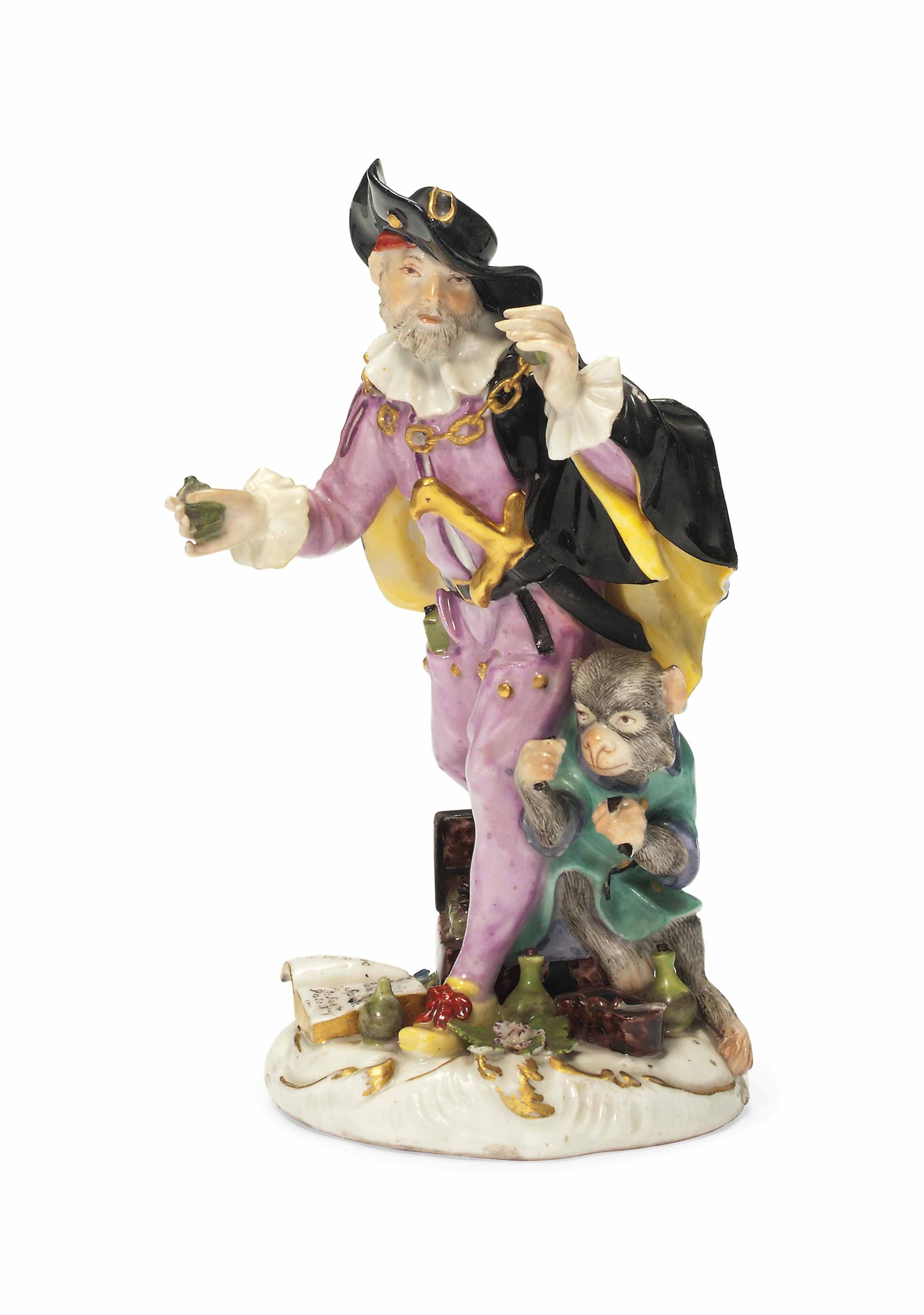 A MEISSEN FIGURE OF THE QUACK