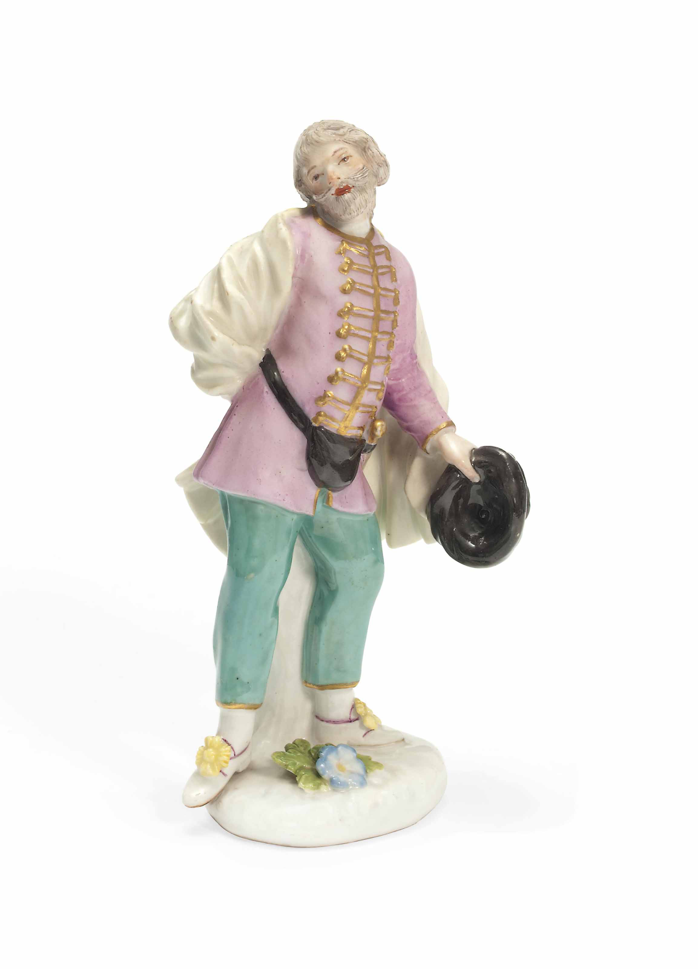 A MEISSEN FIGURE OF SCAPIN FRO