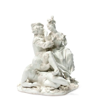 A MEISSEN WHITE GROUP OF THE I