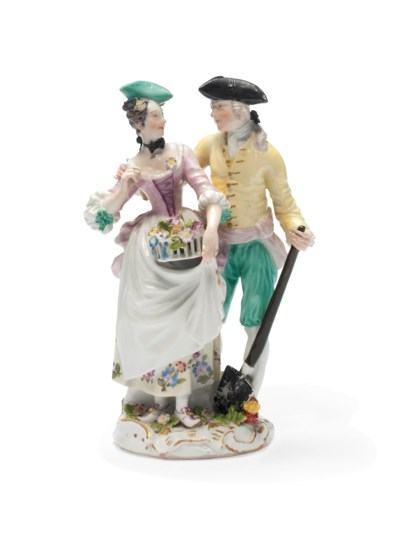 A MEISSEN GROUP OF A GARDNER A