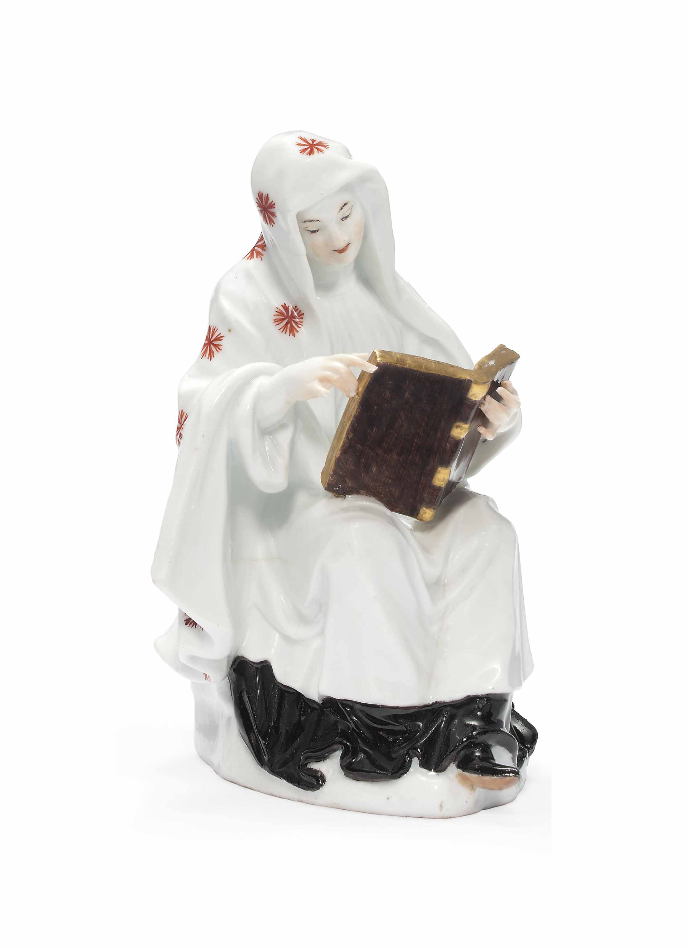 A MEISSEN FIGURE OF A NUN
