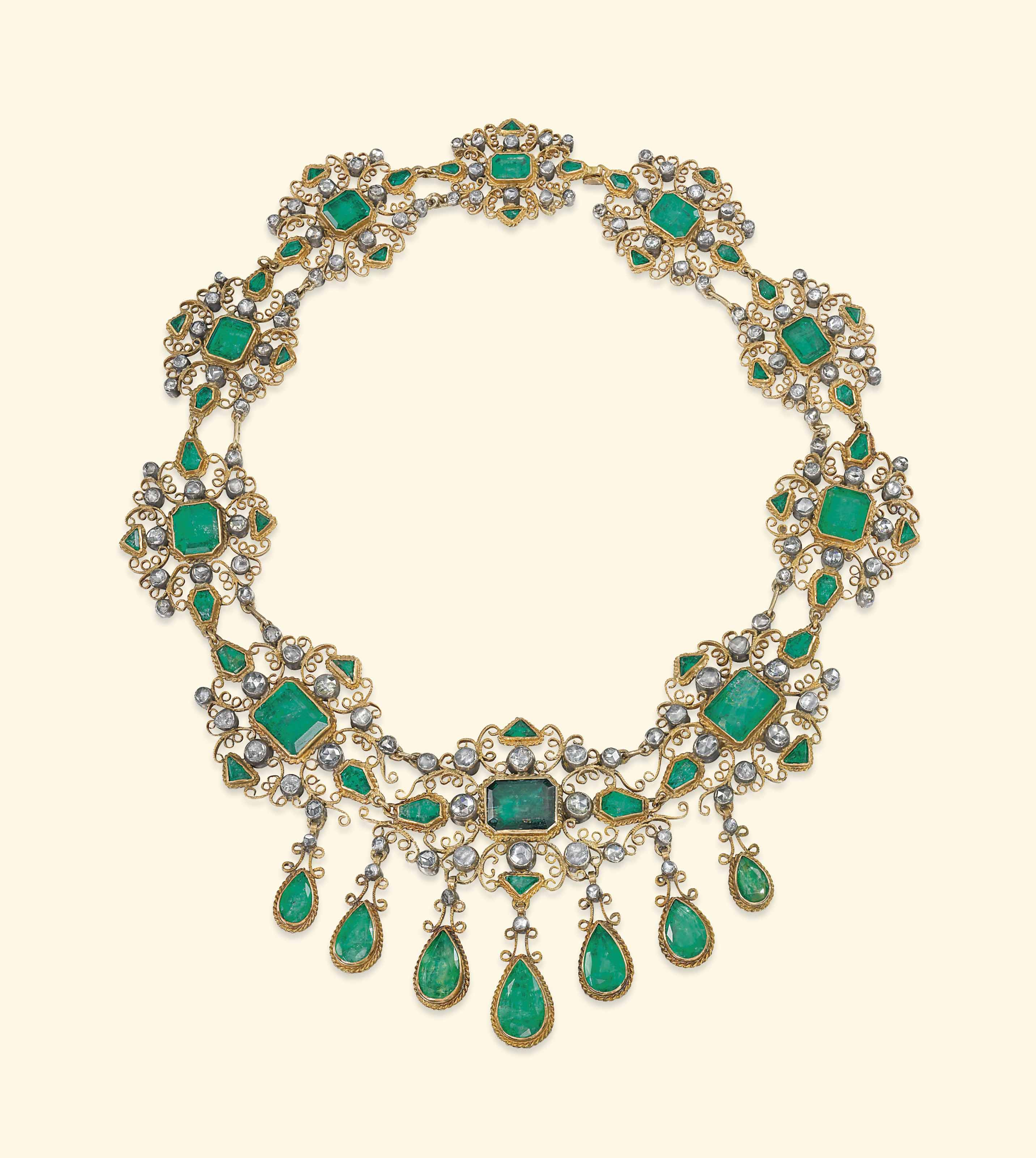 AN ANTIQUE IBERIAN EMERALD AND