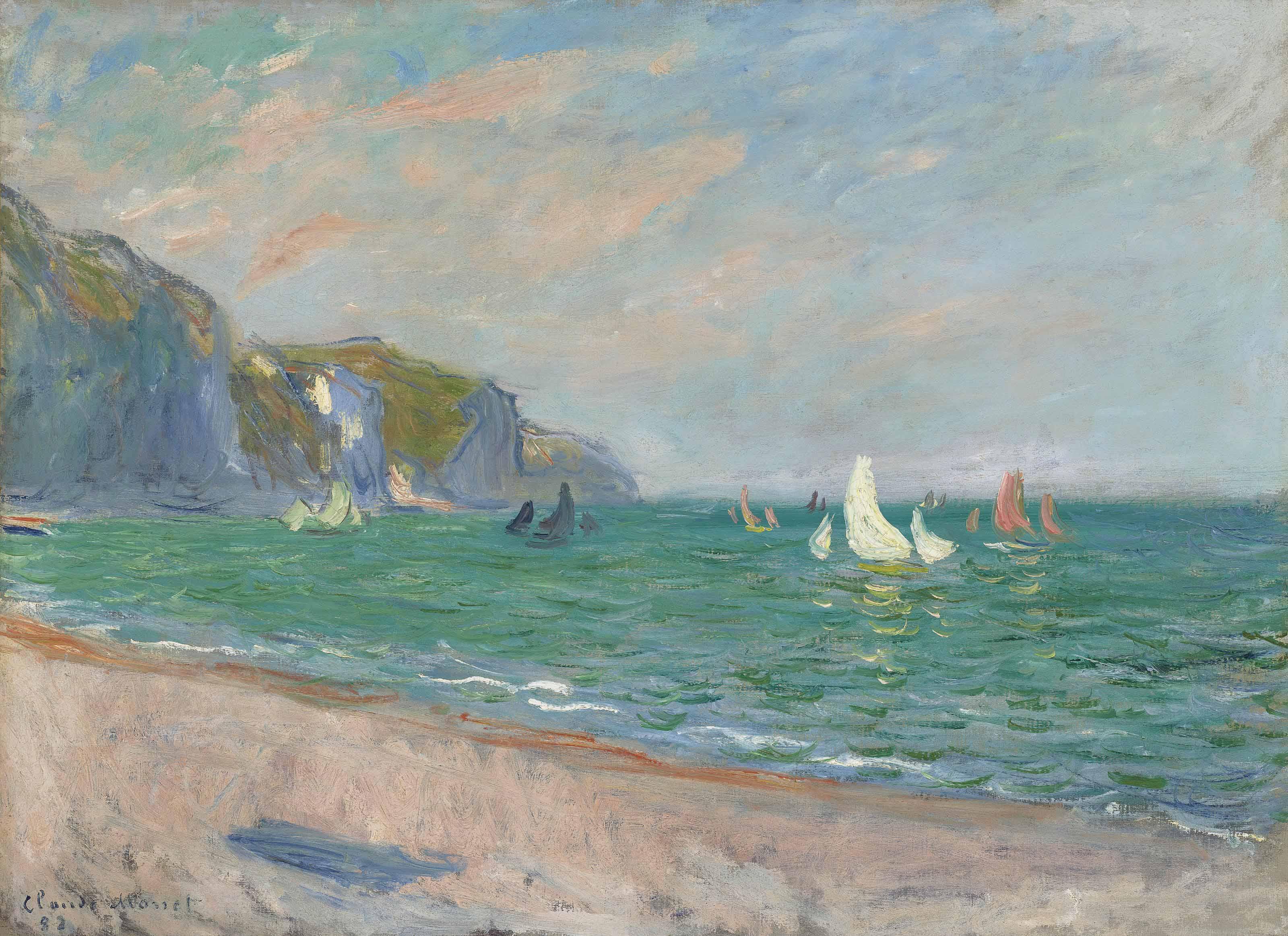 Claude Monet (1840-1926) | Bateaux devant les falaises de Pourville | 19th  Century, Paintings | Christie's