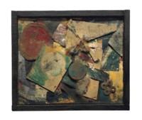 Merzbild 9A Bild mit Damestein (L Merzbild L5)
