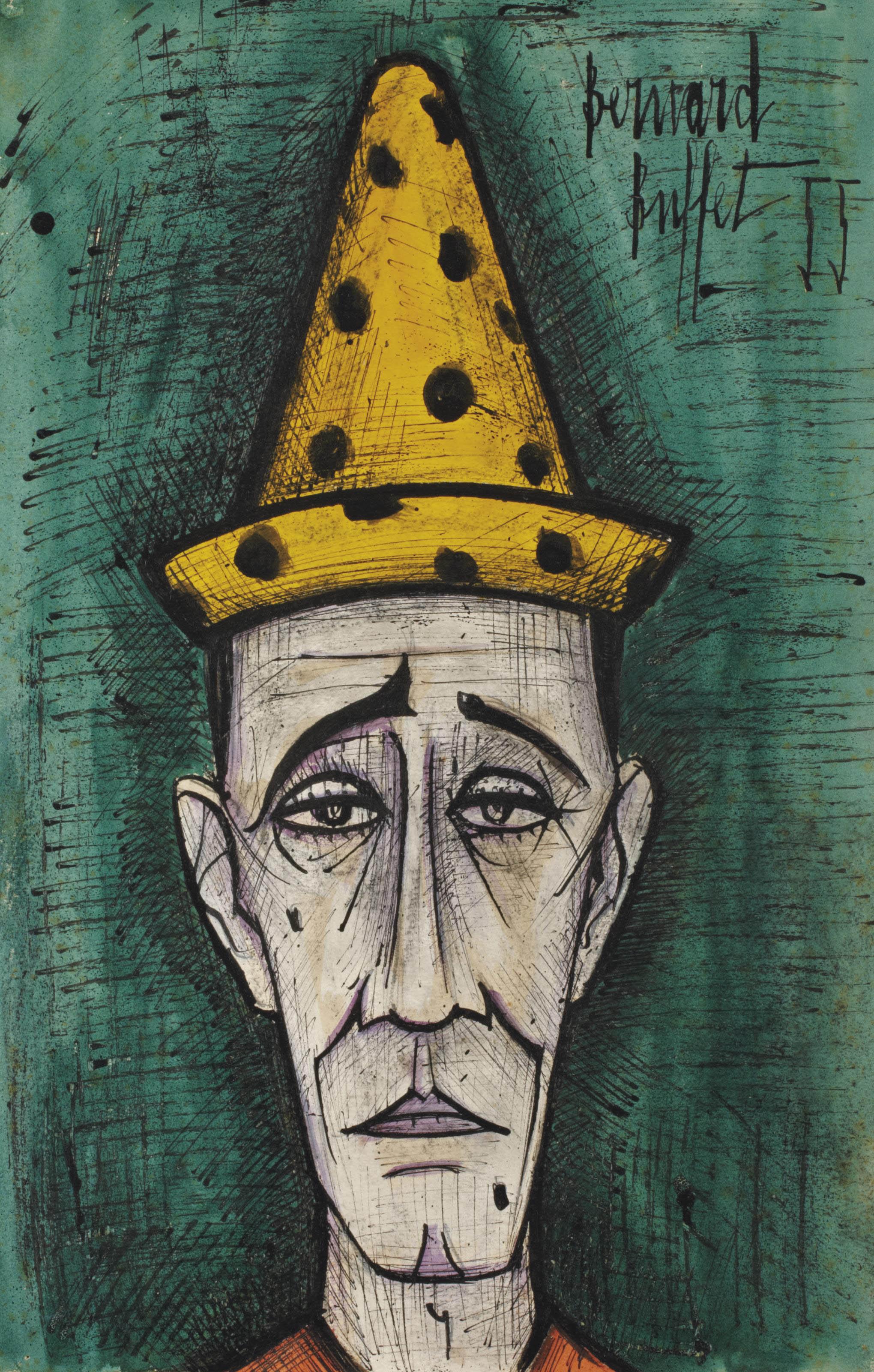 Bernard Buffet (1928-1999) , Tête de clown | Christie's