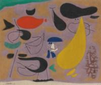 Violett mit gelbem Pendel (Arab III auf Violett)